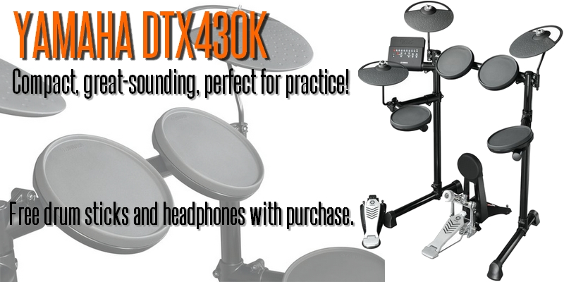 10 different sounds to choose from. No. 1 best selling electronic drum kit.