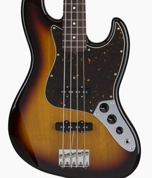 Fender Japan Hybrid 60s Jazz Bass 3-Tone Sunburst